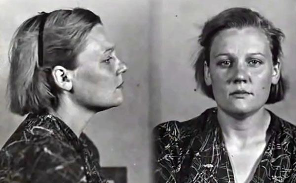 Агнесса Подмазенко во время ареста