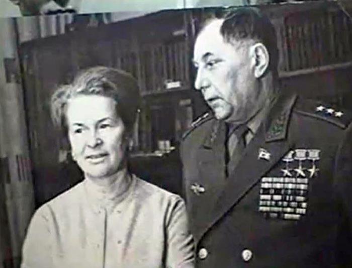 Александр Покрышкин с женой Марией