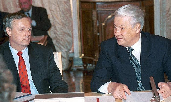 Анатолий Собчак и Борис Ельцин