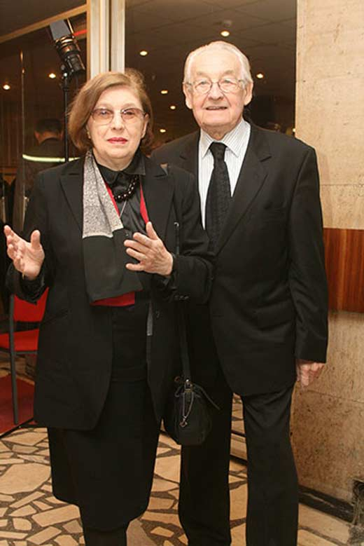 Анджей Вайда с женой Кристиной Захватович