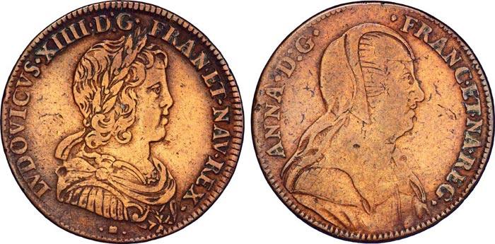 Монета с изображением Анны Австрийской