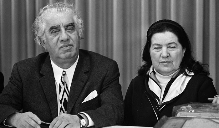 Арам Хачатурян и жена Нина Макарова