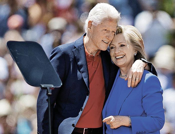 Билл Клинтон и Хиллари Клинтон 3