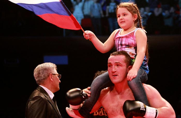 Денис Лебедев с дочерью