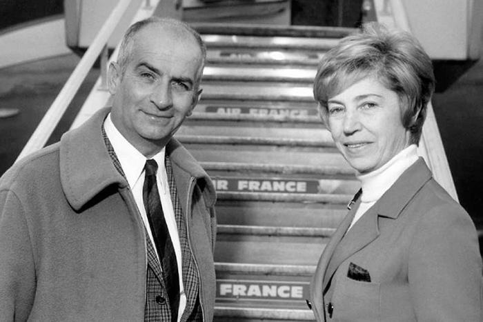 Луи де Фюнес и Жанна Августина