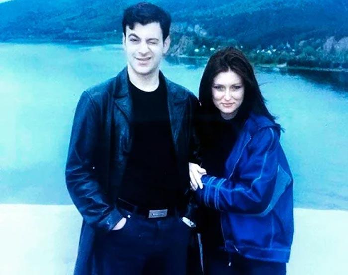 Гарик Мартиросян и жена Жанна в молодости