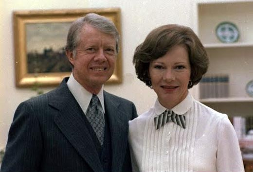 Джимми Картер и жена Розалин Картер