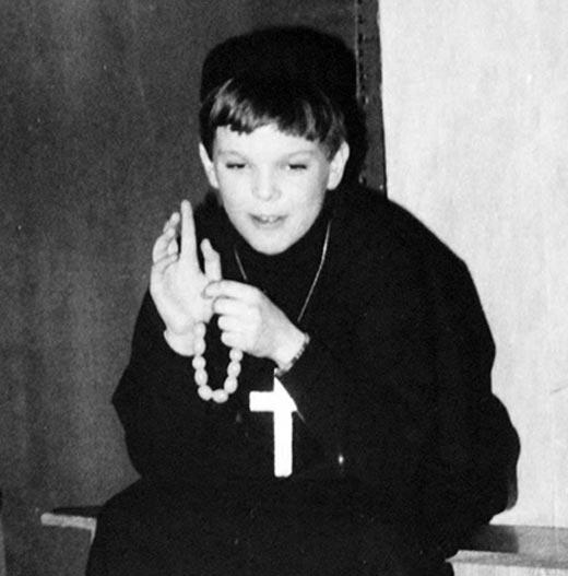 Кирилл Клейменов в детстве
