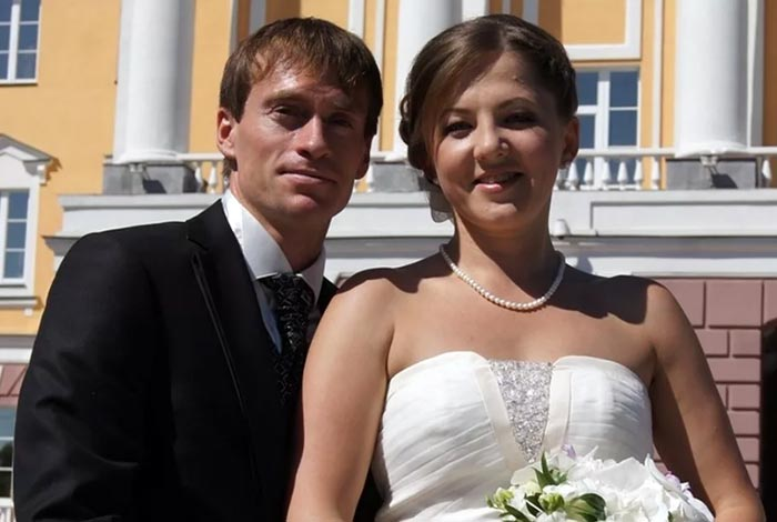 Максим Вылегжанин и жена Альбина