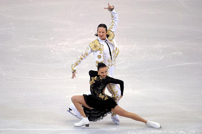 Оксана Домнина и Максим Шабалин на льду