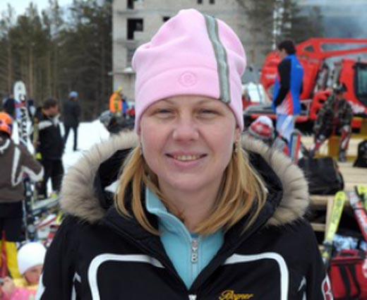 горнолыжница Светлана Гладышева