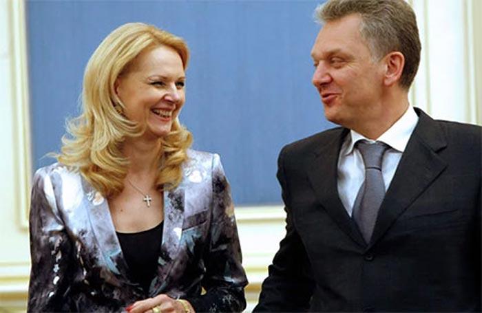 Татьяна Голикова и муж Виктор Христенко