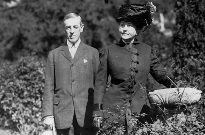 Вудро Вильсон с женой 2