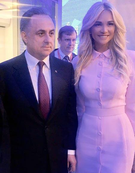 Виталий Мутко и Виктория Лопырева