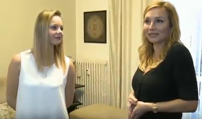 Юлия Козюлькова и дочь Алина