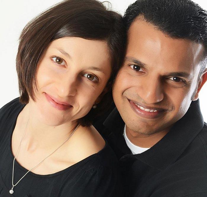 Юлия Пахалина и муж Мухаммед