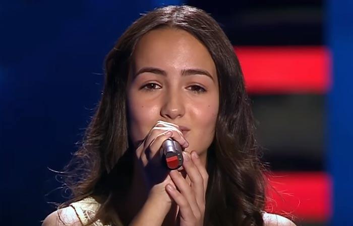 Александра Болдарева в шоу Голос Дети