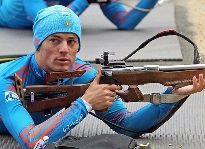 биатлонист Антон Бабиков 3