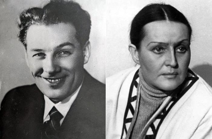 Борис Тенин и Галина Степанова