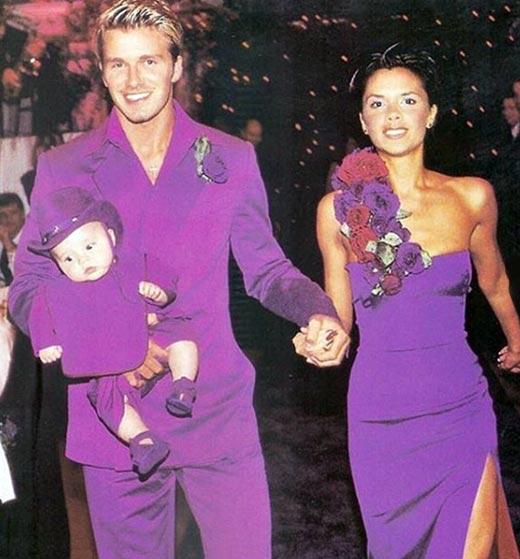 Дэвид и Виктория Бекхэм в молодости