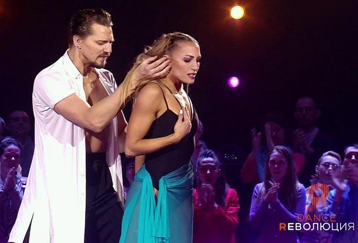 Денис Тагинцев и Анна Мельникова в шоу Dance Революция