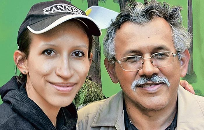 Елена Борщева с отцом