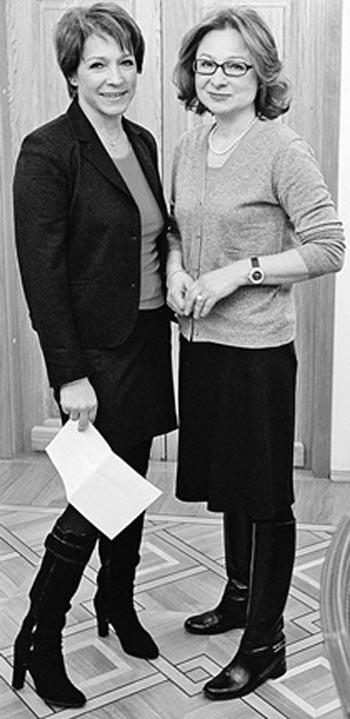 Елена Окулова и сестра Татьяна Юмашева
