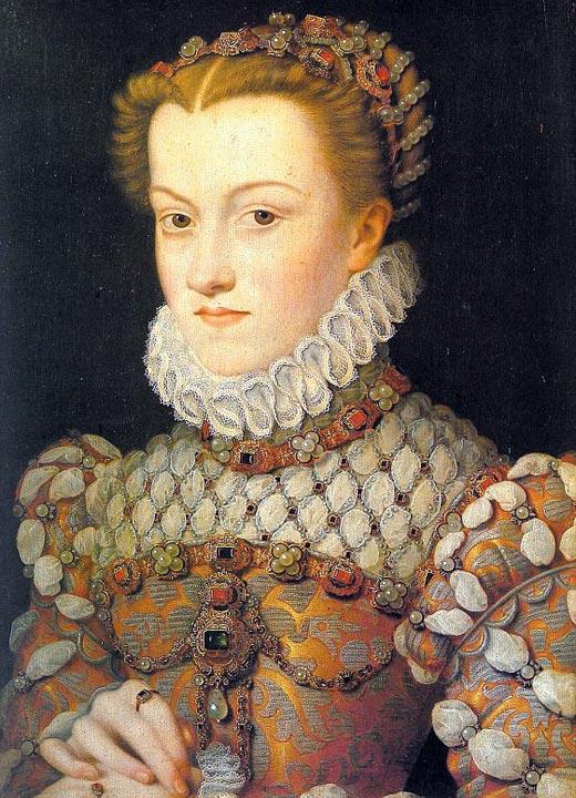 Елизавета Австрийская жена короля Франции Карла IX