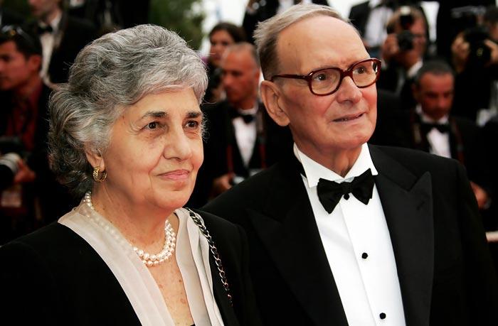 Эннио Морриконе и жена Мария Травиа
