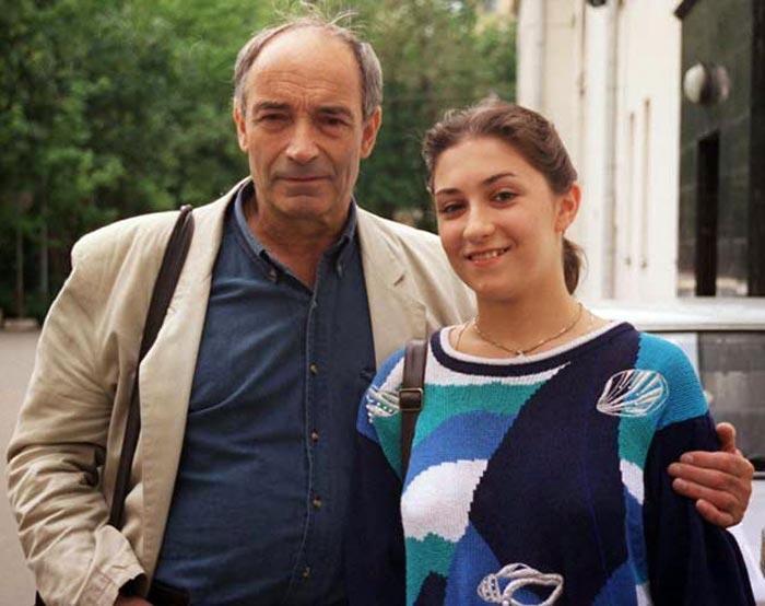 Валентин Гафт и дочь Ольга Елисеева