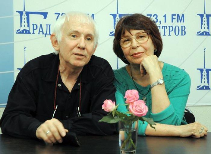 Георгий Корольчук и жена Ольга Исаковская