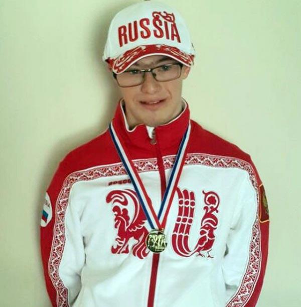 Глеб Дьяченко с золотой медалью чемпиона Европы