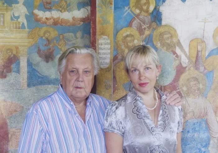 Илья Глазунов и Инесса Орлова