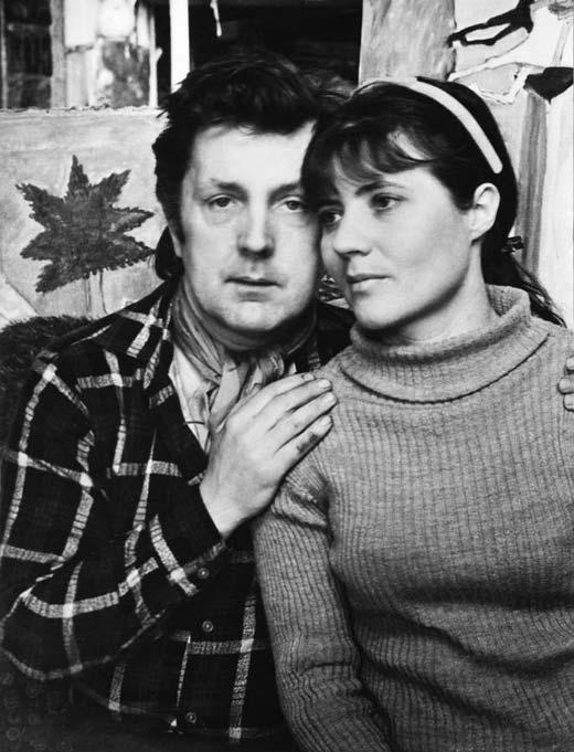 Илья Глазунов и жена Нина Виноградова-Бенуа
