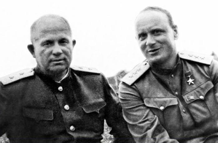 Иван Серов и Никита Хрущев