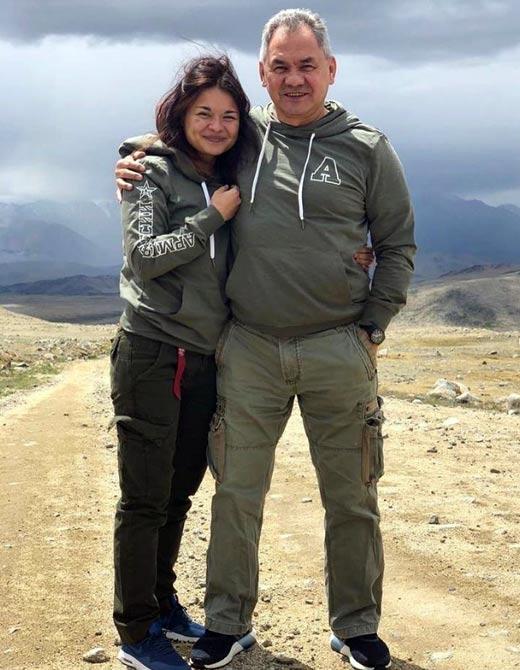 Ксения Шойгу и отец Сергей Шойгу
