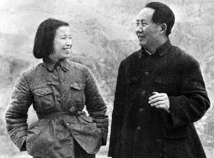 Мао Цзэдун и жена Цзян Цин