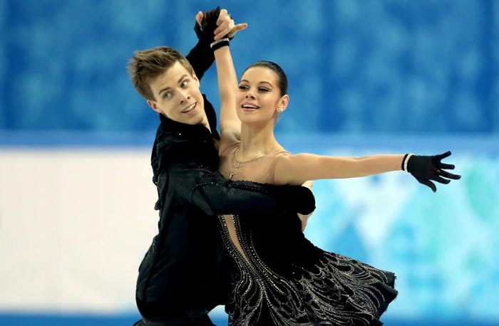 Никита Кацалапов и Елена Ильиных на льду
