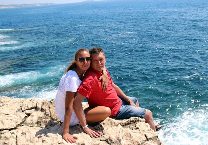 Олег Жилин с женой