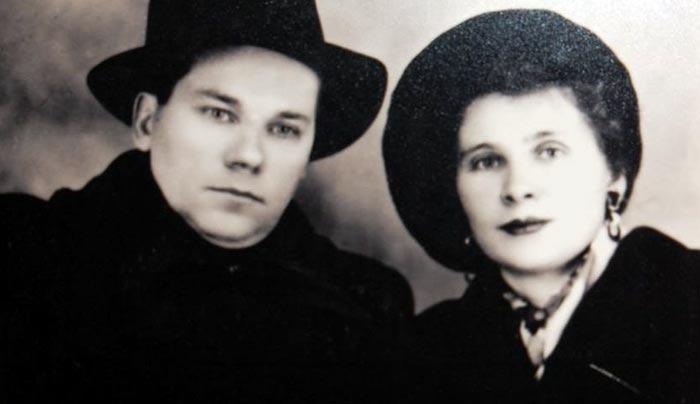 Михаил Калашников и жена Екатерина