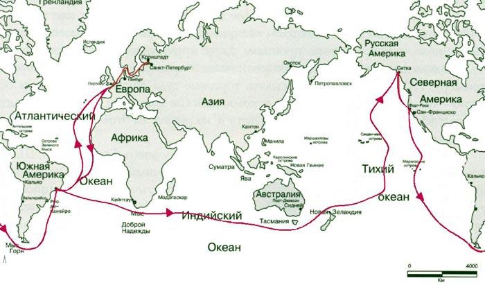 Плавание Михаила Лазарева на фрегате Крейсер