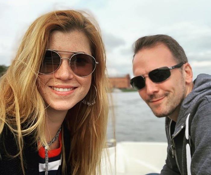 Полина Беленькая с мужем