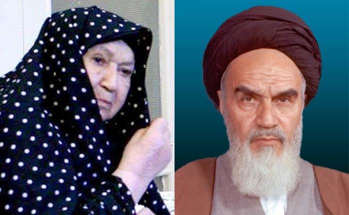 Аятолла Хомейни и жена Хадидже Сакафи