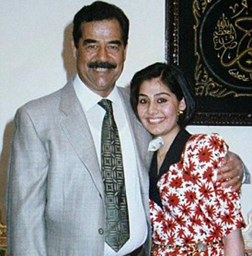 Саддам Хусейн и вторая жена Самира Шахбандар