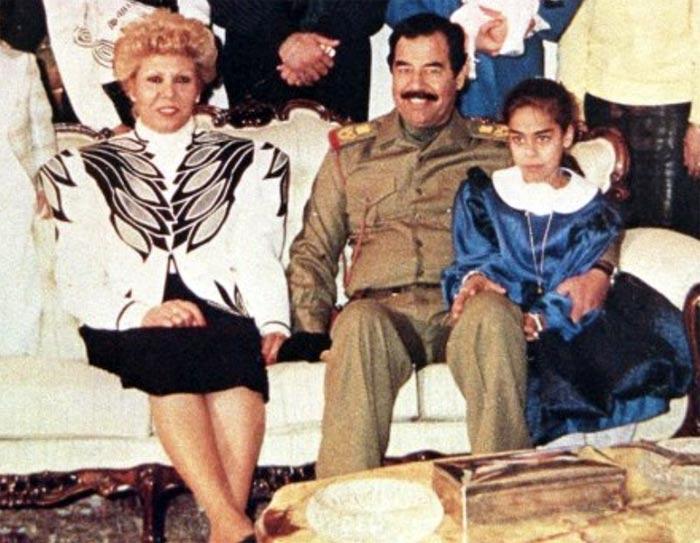 Саддам Хусейн и жена Саджида
