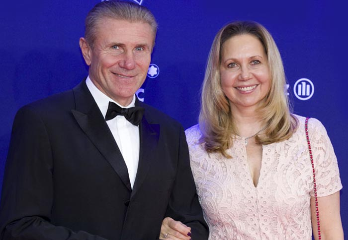 Сергей Бубка и жена Лилия