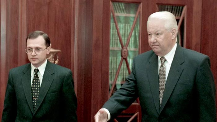 Сергей Кириенко и Борис Ельцин