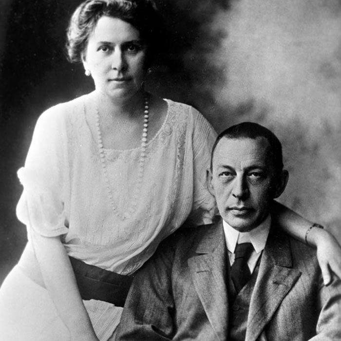 Сергей Рахманинов и жена Наталья Сатина