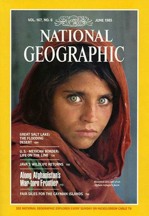Шарбат Гула на обложке National Geographic