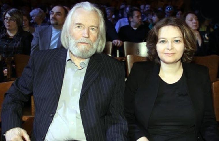 Станислав Любшин и жена Ирина Корнеева